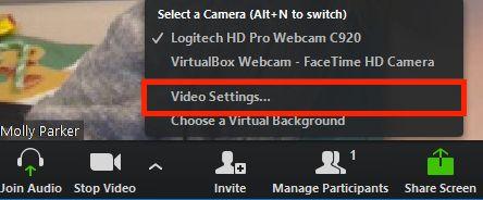 Testowanie wideo przed dołączeniem do spotkania