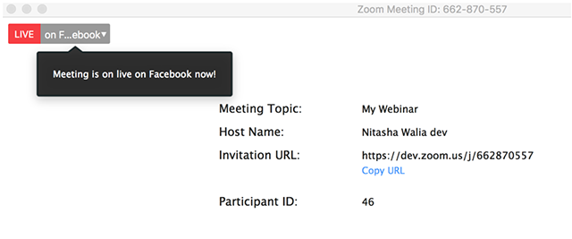 Transmisja spotkań lub webinarów na Facebooku
