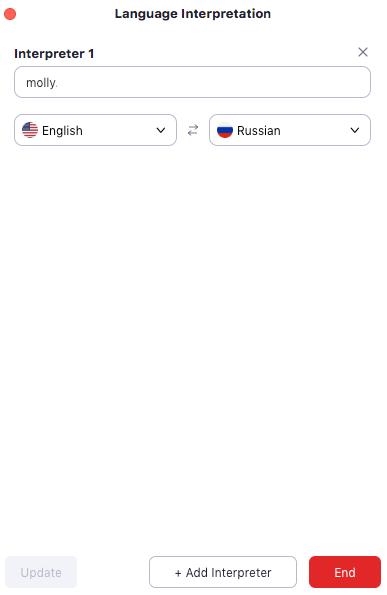 Konfiguracja tłumacza symultanicznego w Zoom
